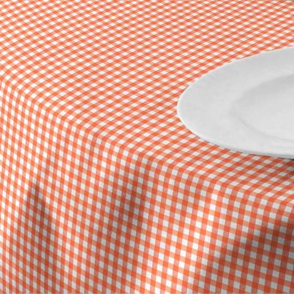 Menorca Tischdecke, Karomuster, Baumwolle + Polyester, Weiß + Rot, 160 x 120 cm
