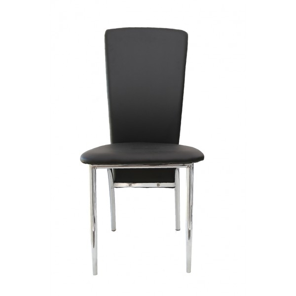 Deea dining chair,ecological leather,black